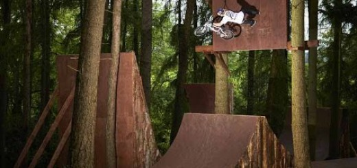 Big Air BMX Session in the Forest